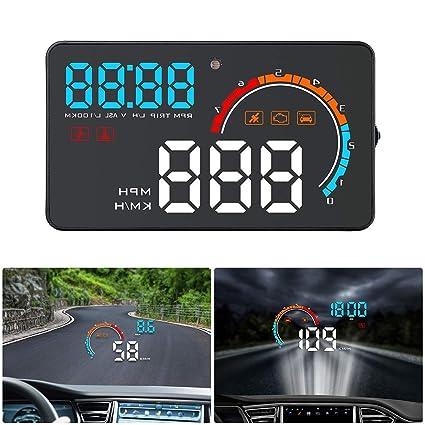 Pantalla Frontal HUD, Pantalla Digital OBD GPS De Doble Sistema ...