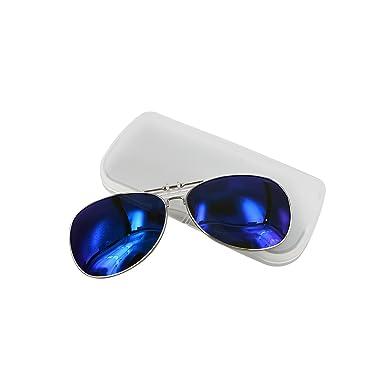 Amazon.com: Aviator Polarizadas UV clip en Flip Up anteojos ...