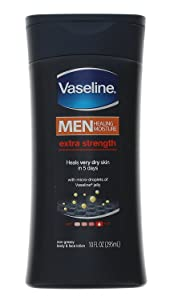 Vaseline Mens Extra Strength Lotion 10 Ounce (295ml) (6 Pack)