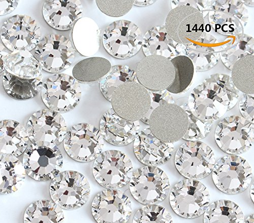 Rose Ss20 Crystal - 1440PCS Fireboomoon Crystal (001) clear Swarovski, Crystal Nail Art Flatbacks Rhinestones, Flat backs Rhinestones 5mm ss20.