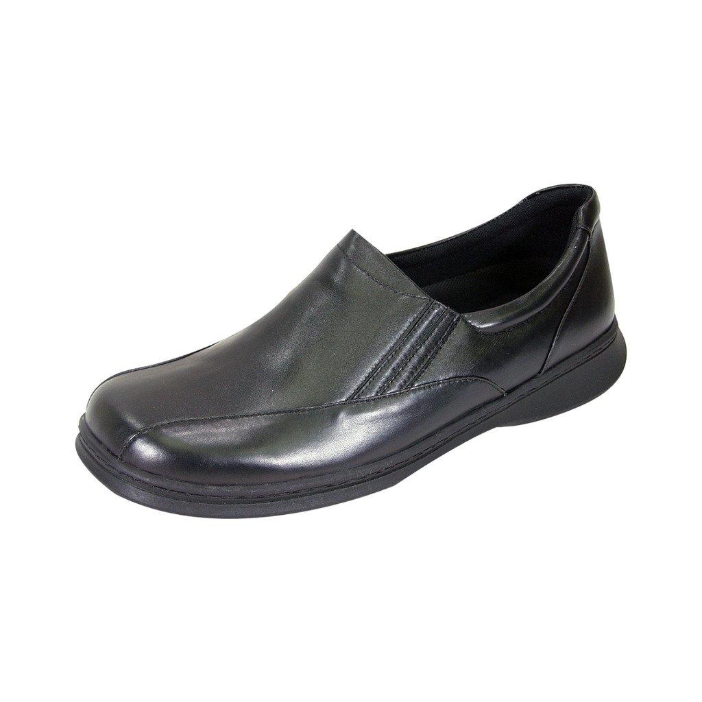 24 Hour Comfort  Blaire (1021) Women Wide Width Comfort Slip-On Shoes Black 6 by 24 Hour Comfort