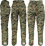 Woodland Digital Camo Poly/Cotton Military BDU Fatigue Pants with Official ArmyUniverse Pin (W 39-43 - I 32.5-35.5 - X-Large Long)