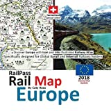 #5: Railpass Railmap Europe 2018: Discover Europe with Icon and Info Illustrated Railway Atlas Specifically Designed for Global Eurail and Interrail Railpass Holders