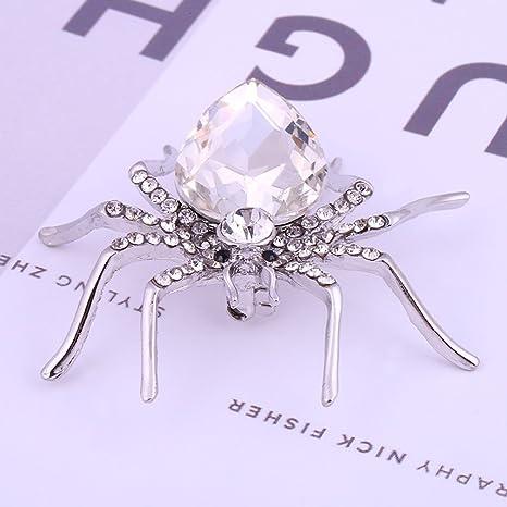 rurah Vintage araña de cristal broche/Pin traje de camisa y ...