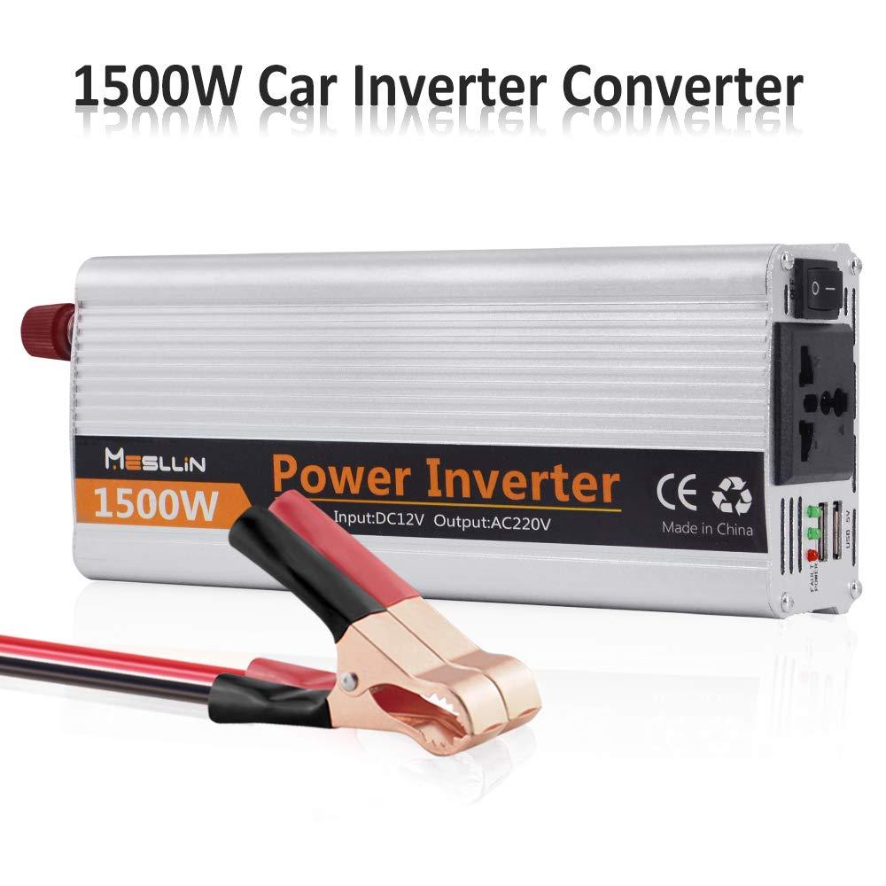 mesllin Modifi/és sinuso/ïdale 1500 W 3000 W Peak Wave Auto Power Inverter DC 12 V vers AC 2