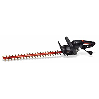 Remington RM5124TH Blaze 24-Inch Dual Action Electric Hedge Trimmer with Titanium Blades-5 Amp-180 Degree Rotation-Lightweight-Cushioned Grip