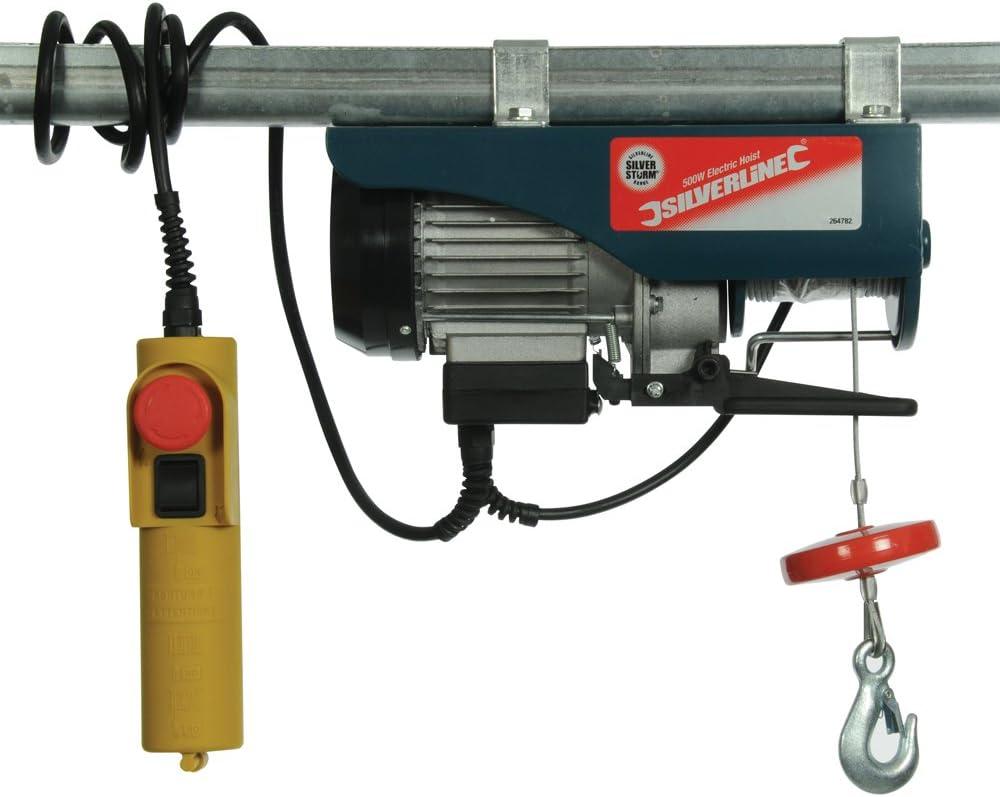 Silverline Électrique Treuil 250 kg 500 W À faire soi-même Outils électriques