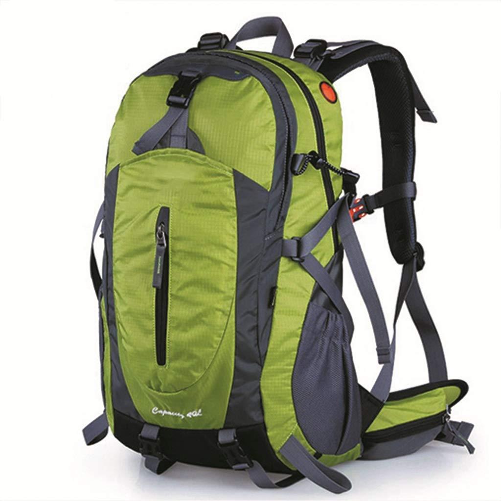 アウトドア登山バッグ男性と女性の大容量ハイキング旅行旅行バックパック40L(果実の緑) (色 : A)  A B07GZQW416
