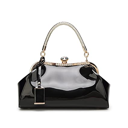 654779346e04 Tisdaini New female handbag fashion patent leather lacquered clasped shoulder  Messenger bag leisure lady wallet  Amazon.co.uk  Luggage