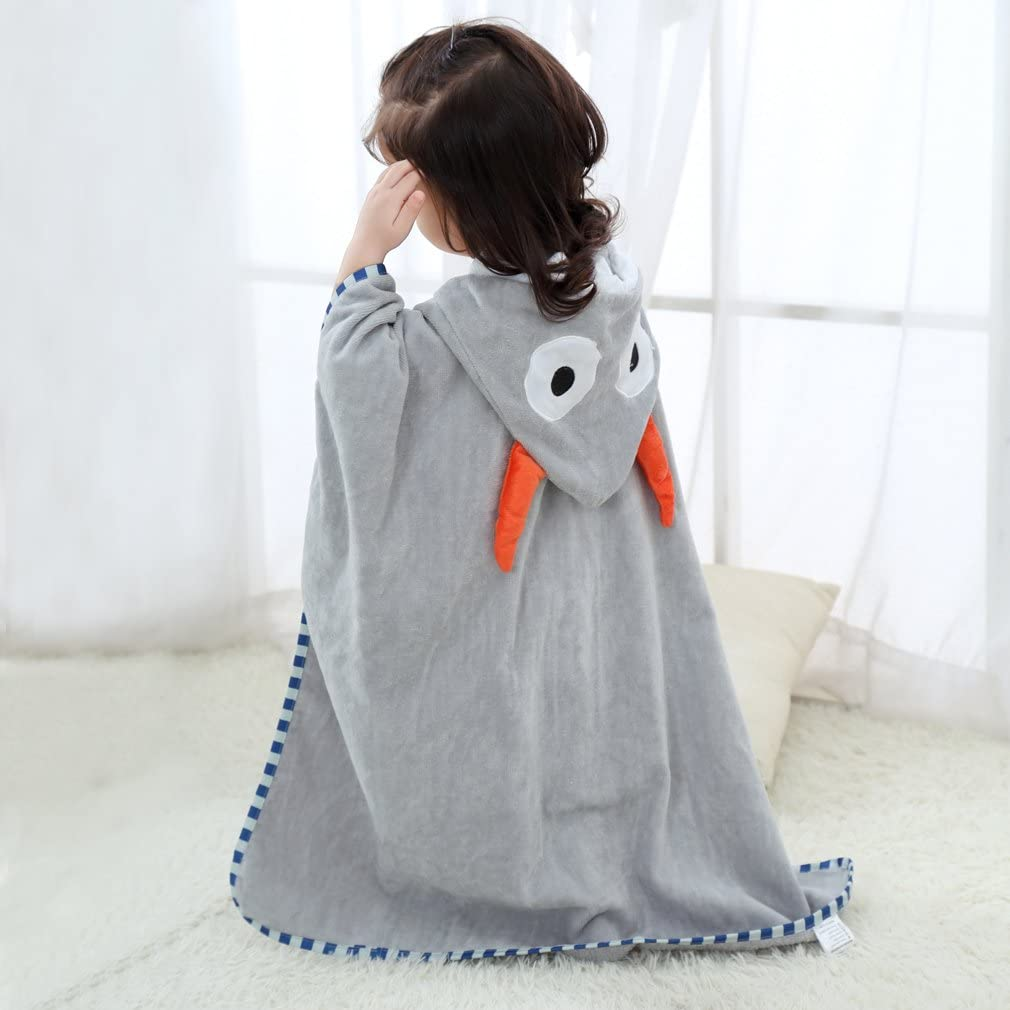 70 x 70 cm COOKY.D Unisex Baby Poncho Bath Towel Hooded Robe for 0-6 Years