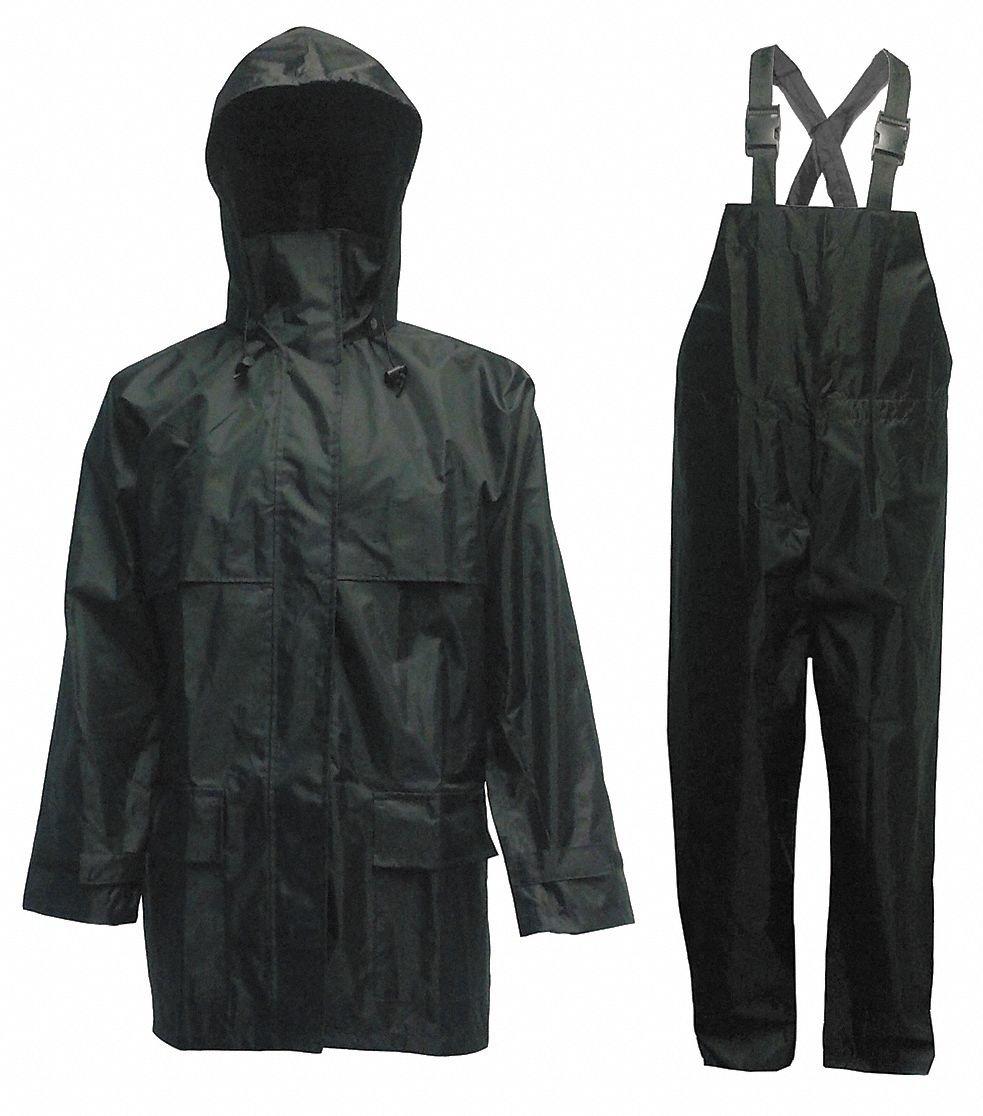 Three Piece Rainsuit /取り外し可能フード、BLK B00ILDMD12