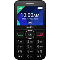 Alcatel 2008D Mobile Phone, Less than 512 MB Dual SIM Black