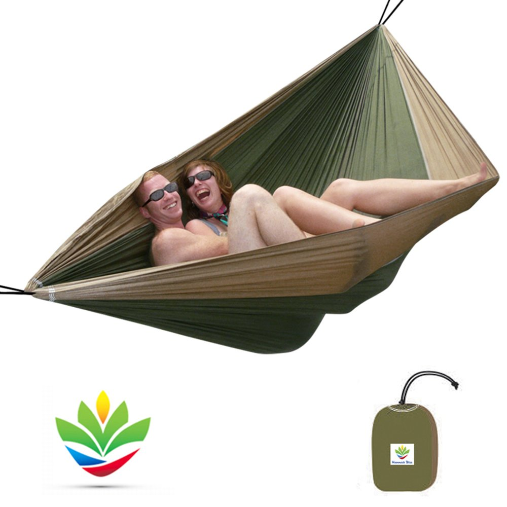 Hammock Bliss Double - Extra Large Portable Hammock - Ideal For Camping, Backpacking, Kayaking and Travel - Suspension System Included Double - BP