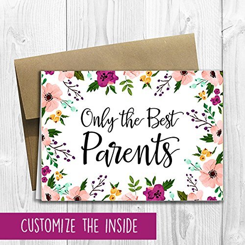 Pregnancy Announcement Greeting Card (5x7 size) - Only the Best Parents Get Promoted to Grandparents with custom text (The Best Parents Get Promoted To Grandparents Card)