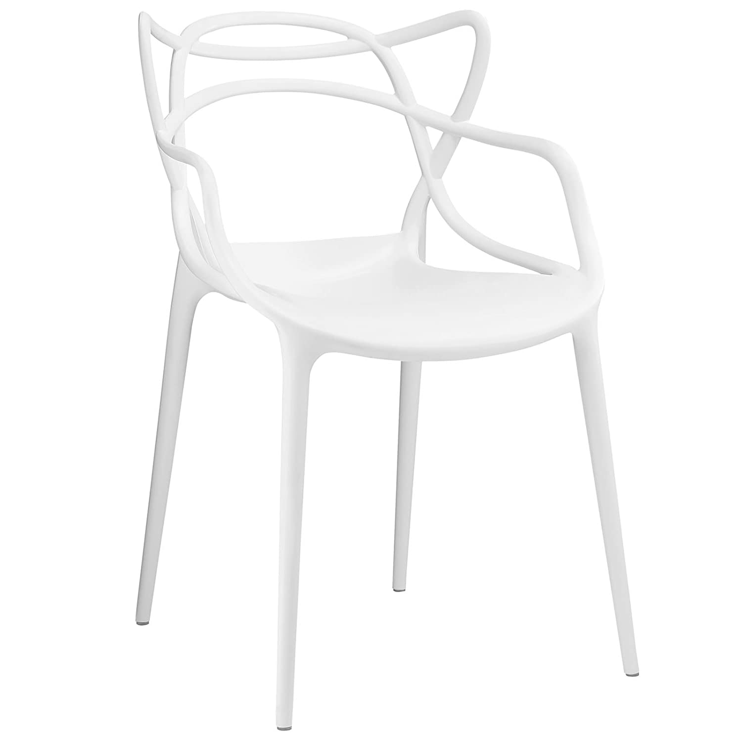 Amazon Modway Entangled Dining Armchair White Kitchen & Dining