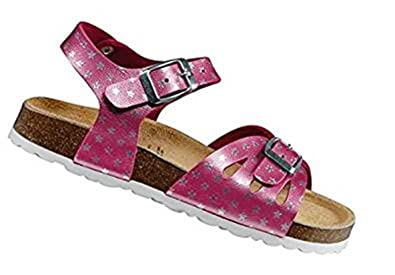 Damen Bioline Sandal Flache Hausschuhe, Rosa (Pink/Silber), 35 EU Lico