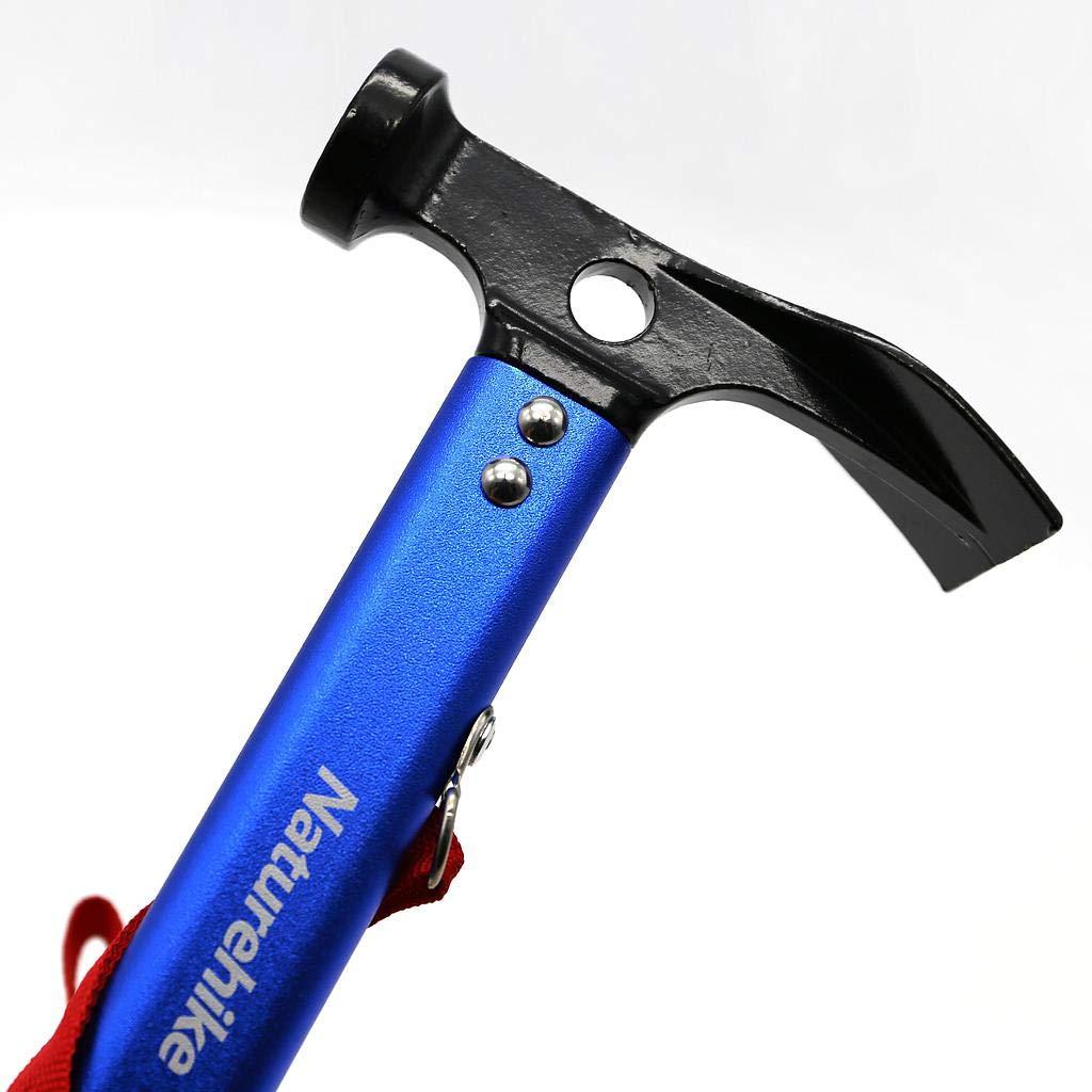 Naturehike Camping Outdoor Hammer Aluminum Multi-function Hammer Tent Hammer(Blue) by Ubens