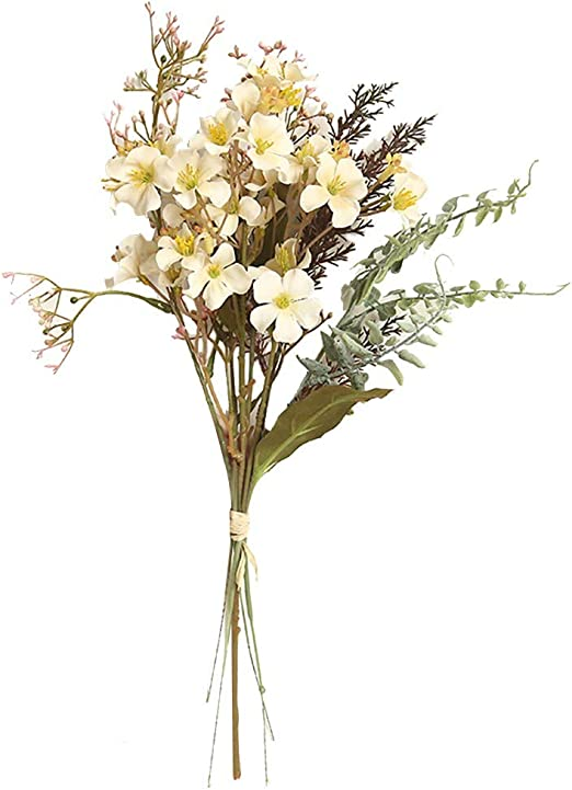 Amazon Com Ranoff Natural Dried Flower Baby S Breath Home Decor Natural Dried Flower Artificial Plants Fake Leaf Bouquet Creative Gift Decoration Home Decoration Bar Cafe Artificial Flower Pink White Home Kitchen