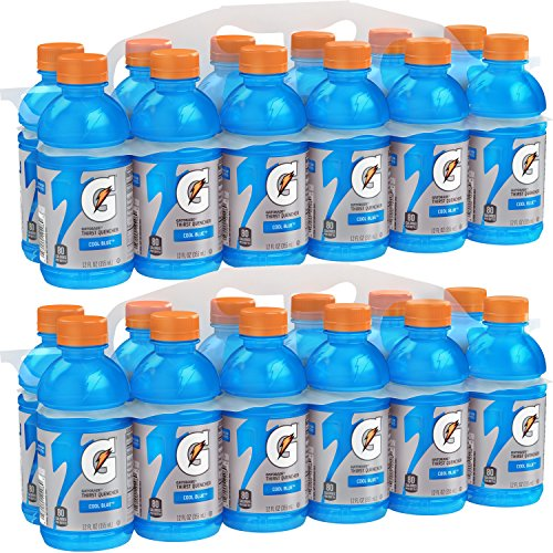 Gatorade Thirst Quencher, Cool Blue, 12 Ounce Bottles (Pack of 24) -