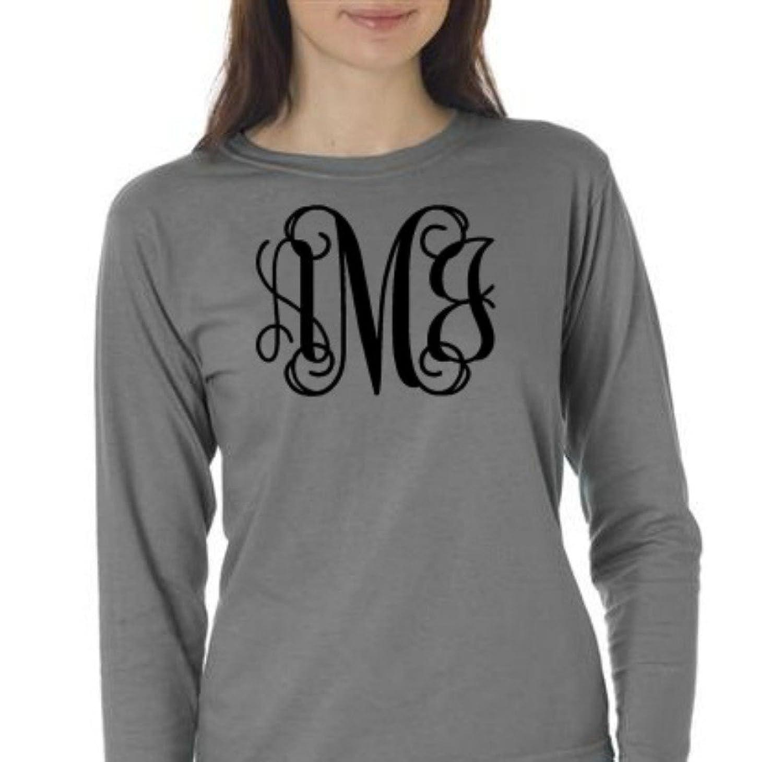 Comfort Colors Long Sleeved T-shirt Monogrammed
