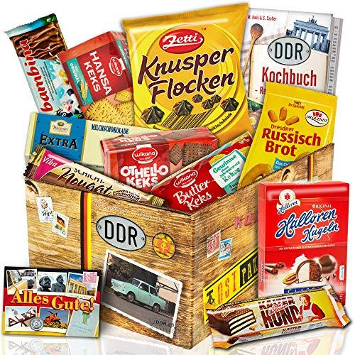 DDR Keks Box mit DDR Waren – Geschenkset DDR mit Kultprodukten