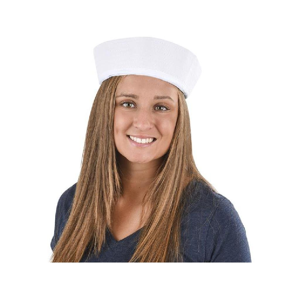 Large White Sailor Hat by Bargain World