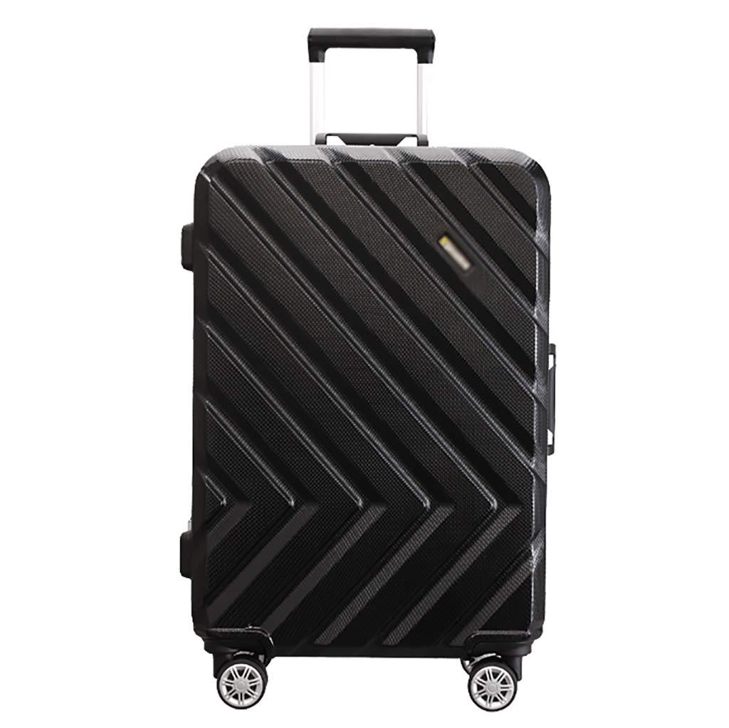 軽量機内持ち込み荷物|スモールスーツケース| 58 cm、4つの車輪、TSAロック付きABS +ポリカーボネートシェル、ラップトップローラーケース、トラベルバッグ、ブラック 39x26x58cm Black B07PNNJFKG