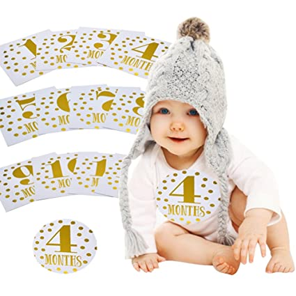 709e57126a4a5e Sticky bellies Baby month Stickers, Baby Mes Pegatinas para el 1. Vida Año,
