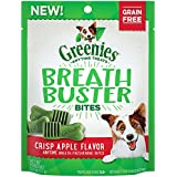 Greenies Breath Buster Bites Crisp Apple Flavor Treats For Dogs 2.5 Ounces (Pack Of 6)
