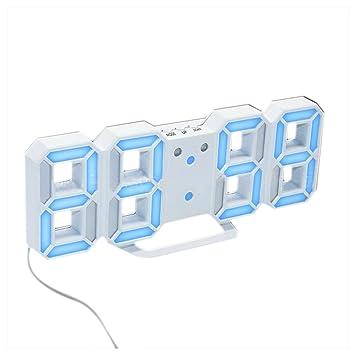 Amazon.com : Wall Clock, Inkach Modern Digital LED Table Desk Night Wall Clock Alarm Watch 24 or 12 Hour Display (D) : Garden & Outdoor