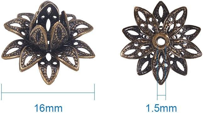 5mm 10 x metal perlas de latón 9x4