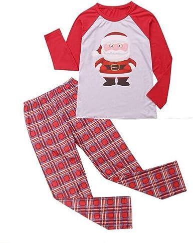 Conjunto de Pijama de Navidad con Estampado de Papá Noel ...