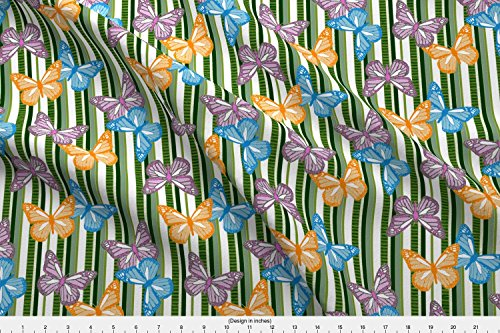 Monarch Palette - Butterfly Fabric Butterfly Showers by Cricketswool Printed on Performance Knit Fabric by the Yard by Spoonflower