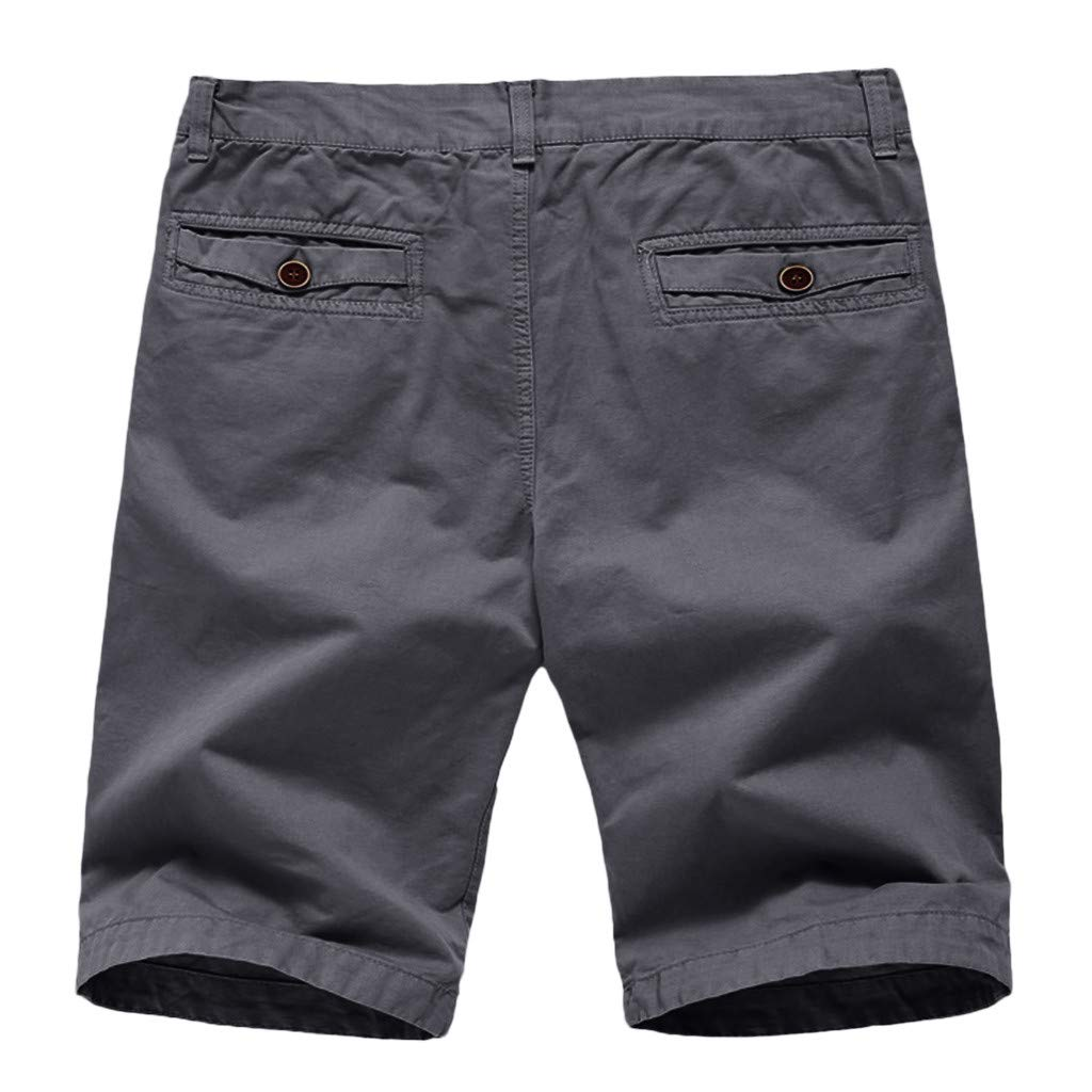 Redshop Fashionable Mens Pure Color Button-Pocket Overalls Wind Overalls Shorts