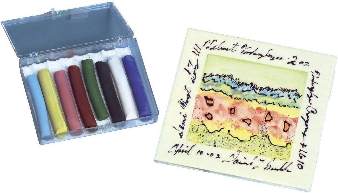 AMACO Non-Toxic Underglaze Decorating Crayon Set Set of 8 Assorted Color B
