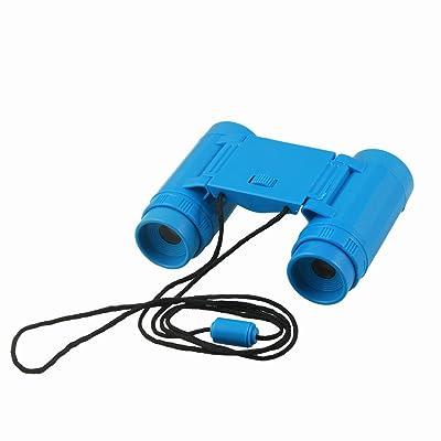 SODIAL (R) de los cabrito plastico 26 mm x 2,5 veces plegable telescopio binoculares de juguete azul: Juguetes y juegos