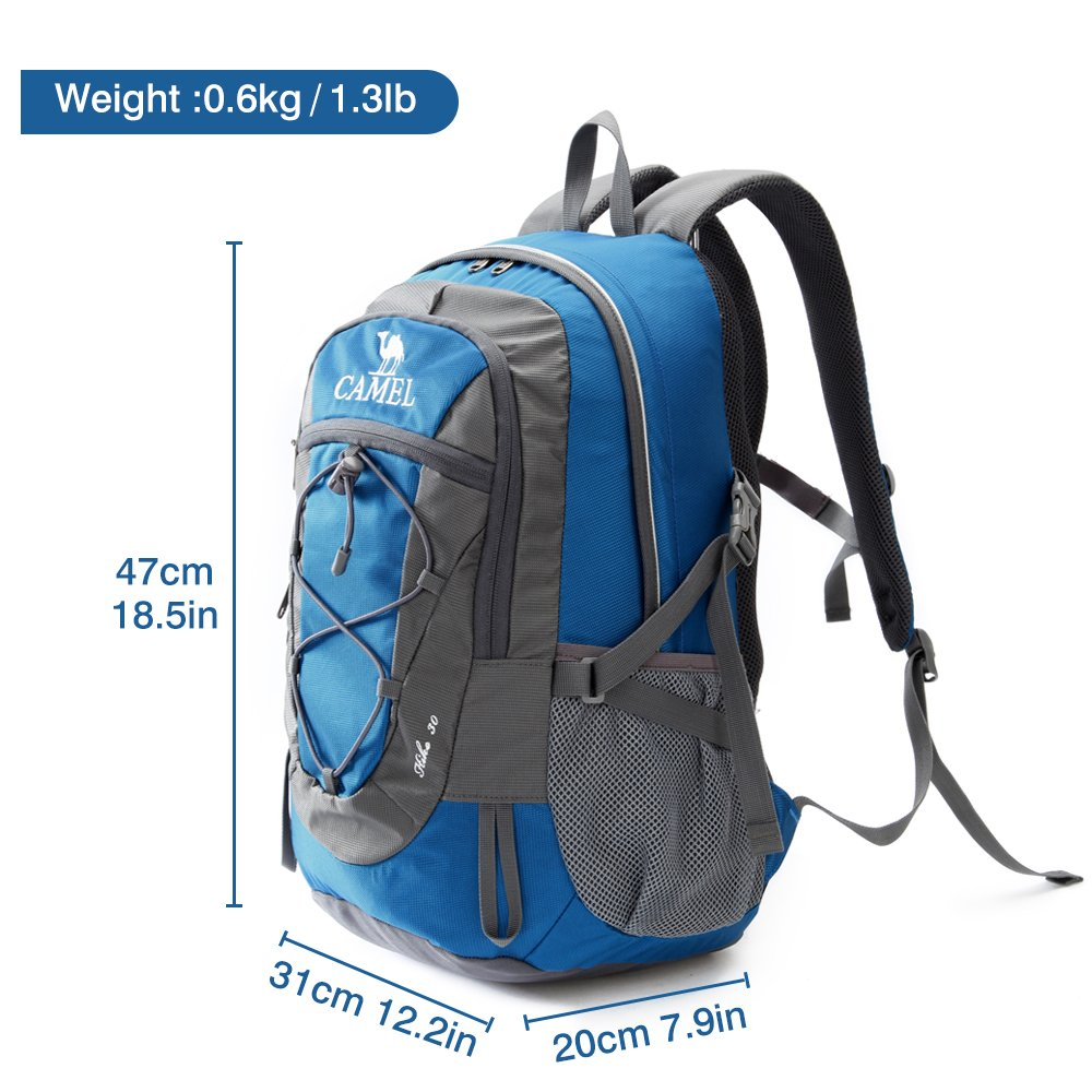 bdae03bc5c Camel 30L Lightweight Travel Backpack Outdoor mountaineering Hiking Daypack  with Durable   Waterproof
