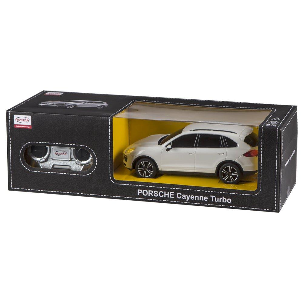 Rastar - Porsche Cayenne Turbo, coche teledirigido, escala 1:24, color blanco (ColorBaby 85041): Amazon.es: Juguetes y juegos