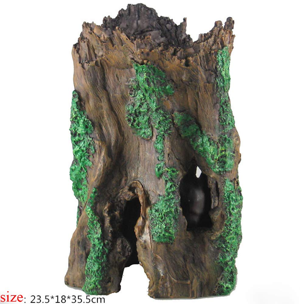 Norgail Fish Tank Resin Tree Root Wood Decorations - Ancient Trunk Driftwood Tree Aquarium Fish Tank Plant Stump Ornament Decor Large