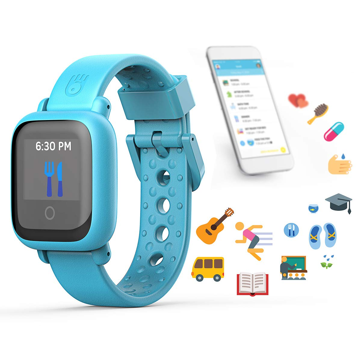 New! Octopus Watch v2 Motion Edition Teaches Kids Good Habits & Time - Encourages Active Play - The First Icon-Based Kids Smartwatch and Fitness Tracker (Blue) by Octopus by JOY (Image #3)