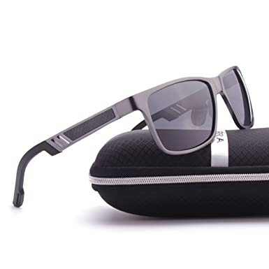 ELITERA Aluminium Magnesium polarisierte Mann Sonnenbrille für Sport Driving Reisen E6560 (Silber&Grau) YTw4MWtQ