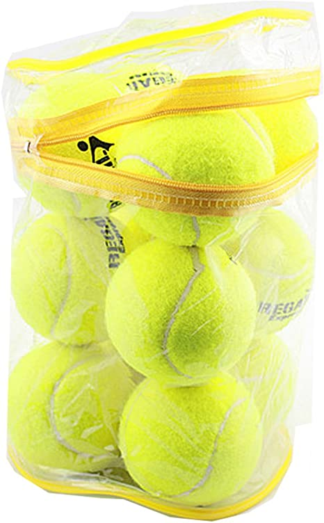 Pelotas de tenis (12 unidades luz deporte jugar Cricket Perro de juguete pelota con bolsa de
