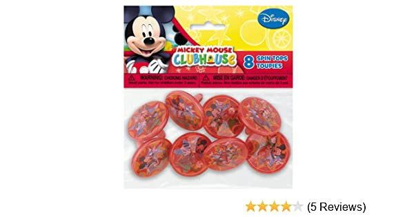 Disney Mickey Mouse Spin Tops Party Favors Supplies16ct