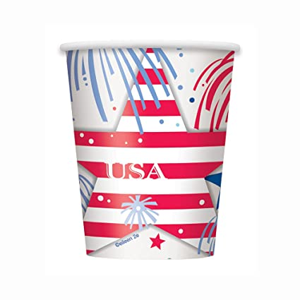b260c501d08 Image Unavailable. Image not available for. Color  9oz USA Fireworks Patriotic  Party Cups