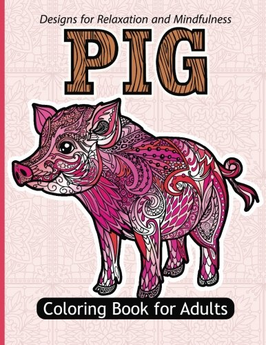 Pig Coloring Book Adults Grown ups product image