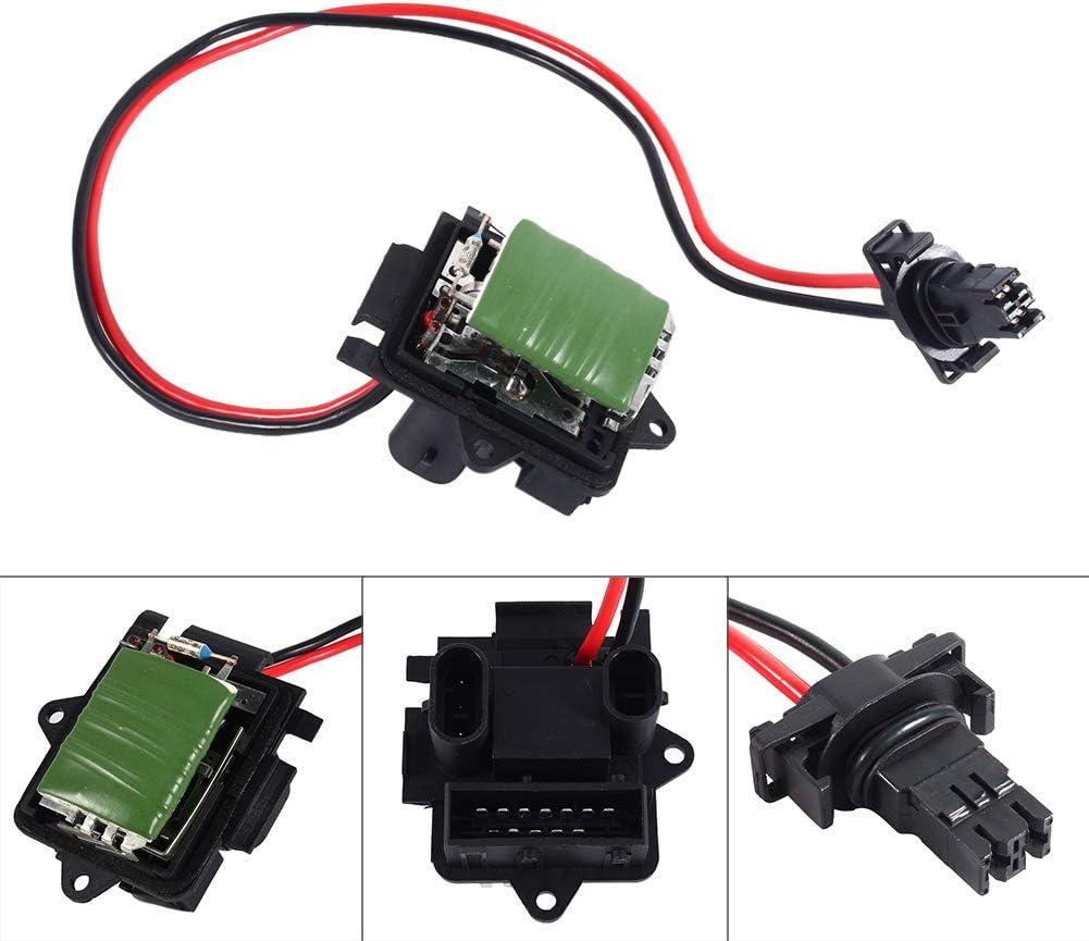 Replaces for Trafic Vivaro 2001-2014 Hlyjoon Heater Regulator Resistor 7701050325 4409452 91158691 509900 Heater Fan Blower Motor Resistor Blower Control Module