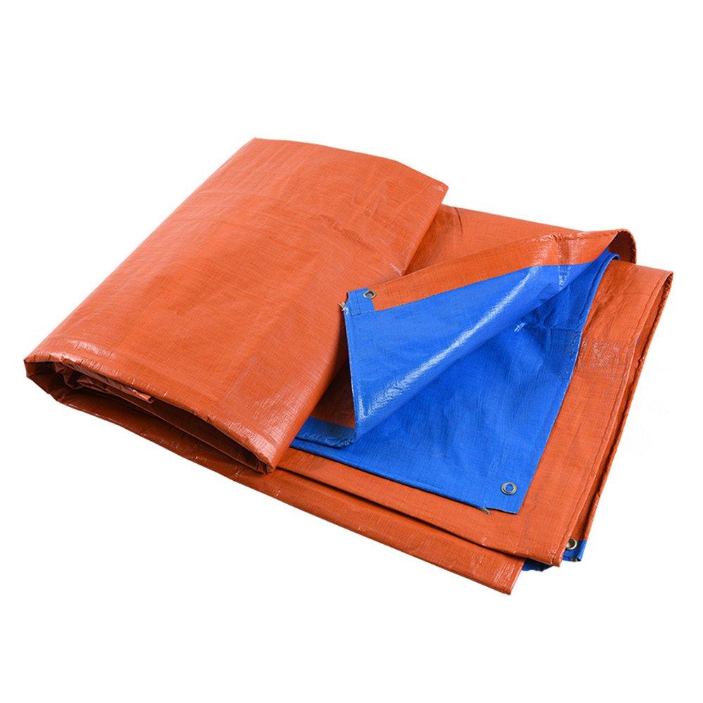 Wasserdichtes Regen-Tuch Im Freien Kampierendes Sun Shade-Tuch-Auto-Plane Pet Plastik Verschiedene Größen Orange Blau