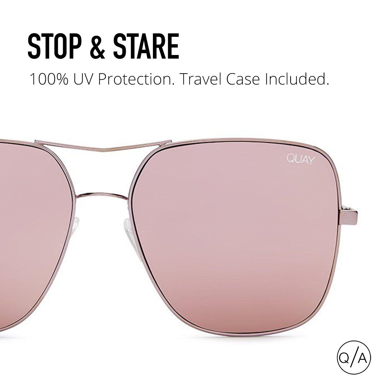 Quay Eyewear Unisex-Erwachsene Sonnenbrille Stop and Star, Pink (Pink), 145