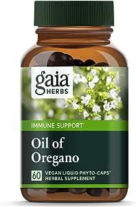 Gaia Herbs, Oil of Oregano, Immune and Intestinal Support, Vegan Liquid Capsules, 60 Count.
