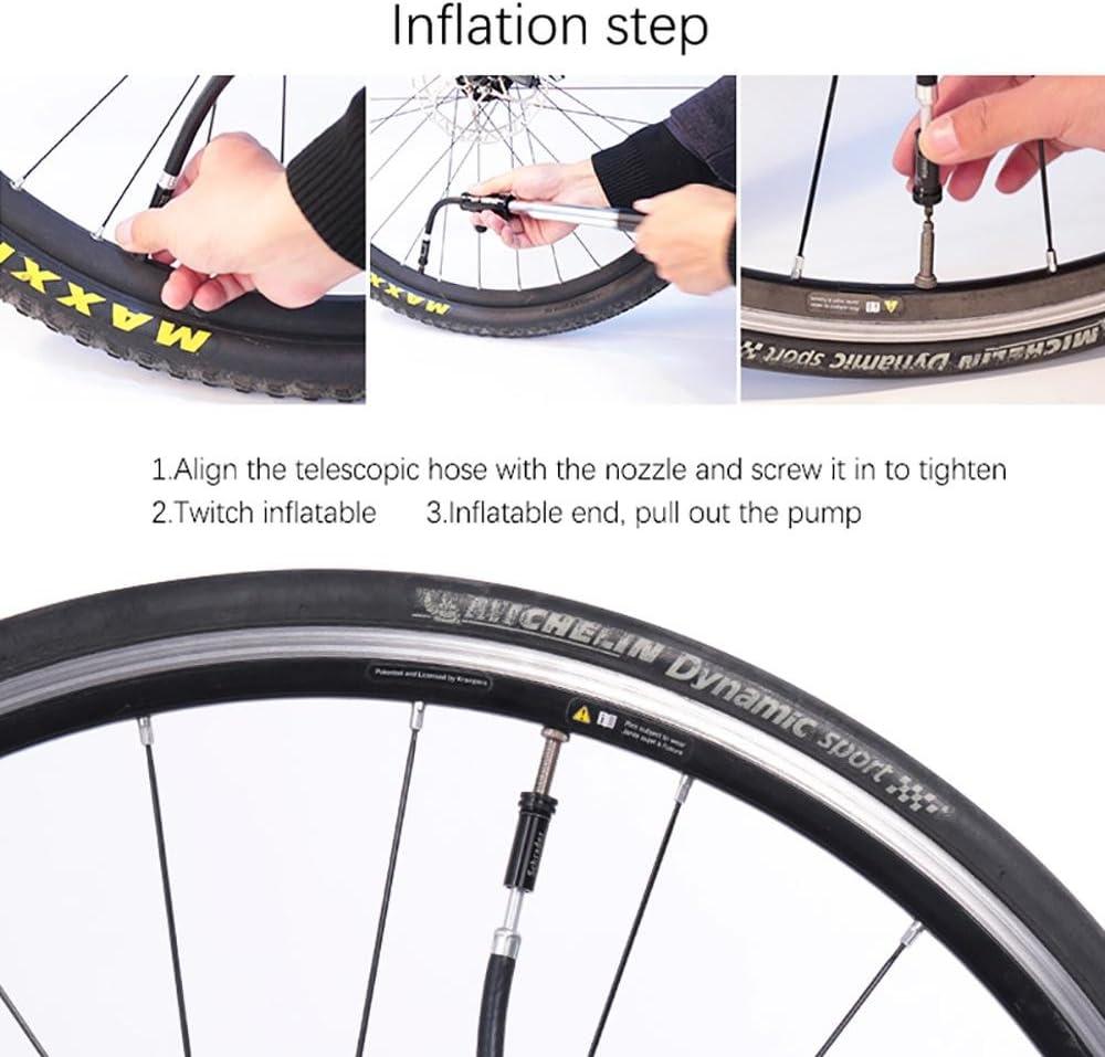 AOLVO Mini Bomba de Bicicleta Herramienta portátil inflador de neumáticos de Bicicleta para Bicicleta de Carretera/Bicicleta de montaña/Bola/Inflable de Juguete Bola Inflable Tubo: Amazon.es: Deportes y aire libre